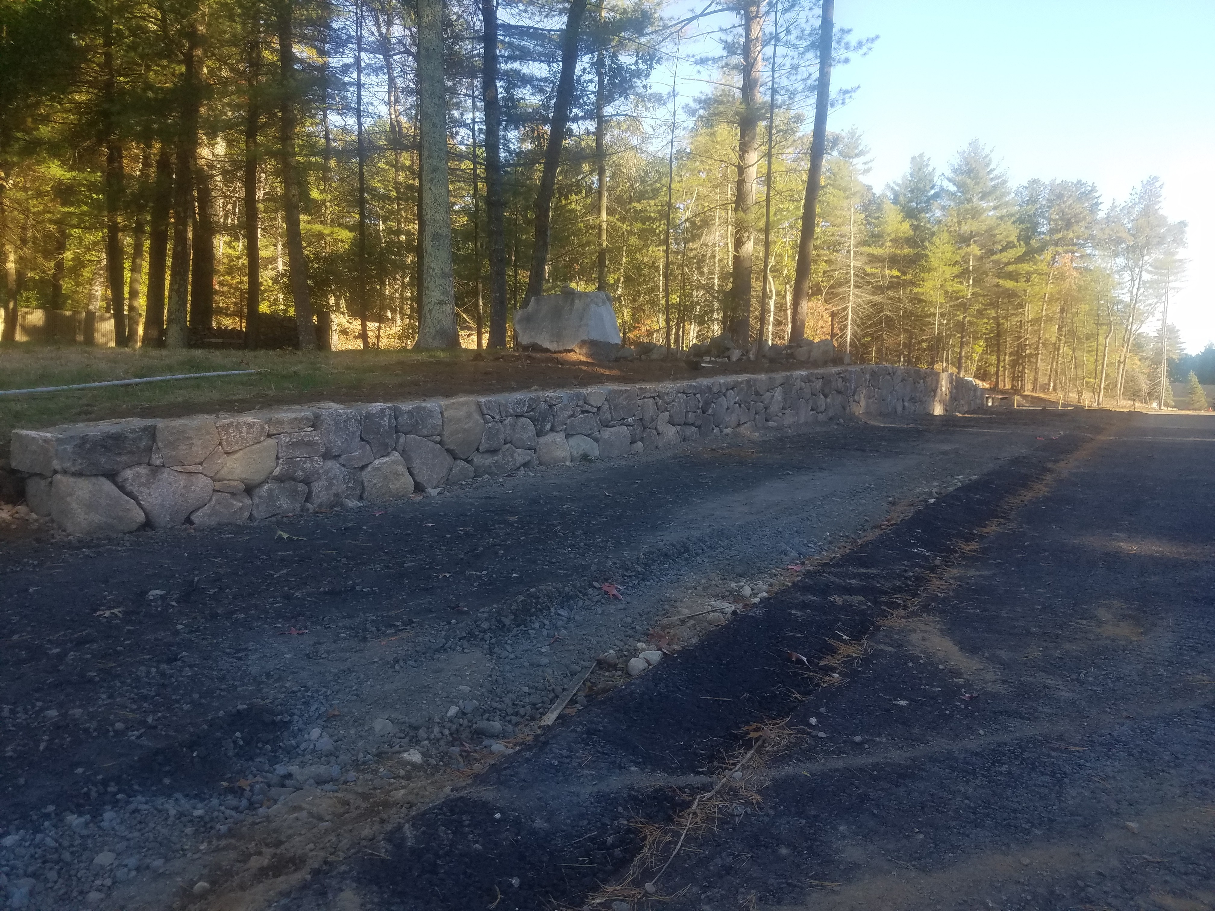 Norfolk Retaining Wall - Completed 1