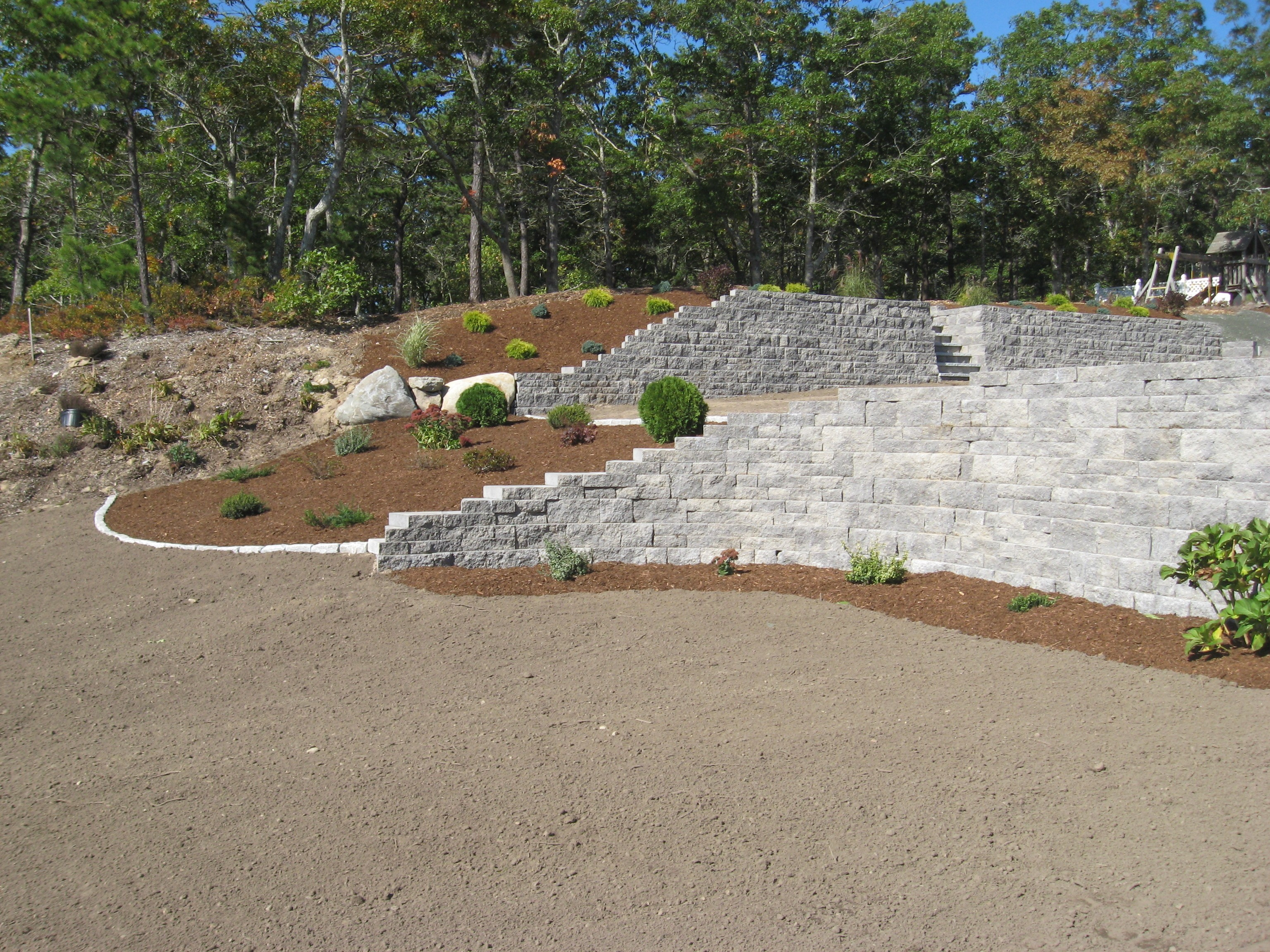 Retaining Wall With Plantings - Sandwich