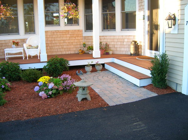 Small Walkway With New Plantings - Plymouth