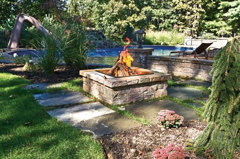 Fire Pit With Chairs Fire Pit Backyard ...